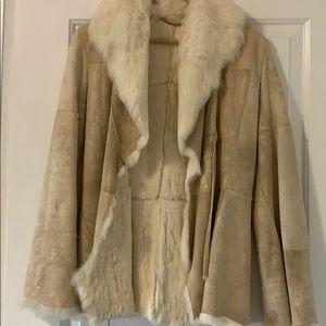 Jackets & Blazers - Fur rabbit coat